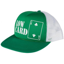 Load image into Gallery viewer, Lowcard original logo green/white mesh cap