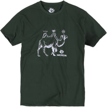 Load image into Gallery viewer, Magenta Camel T shirt forrest green
