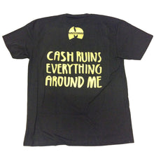 Load image into Gallery viewer, Magenta Cash Ruins black T shirt