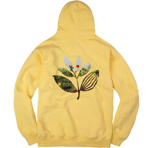 Magenta Jungle II hoodie yellow