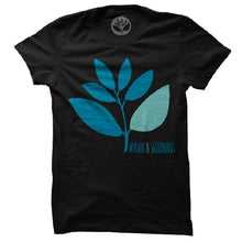 Load image into Gallery viewer, Magenta Plant black T shirt