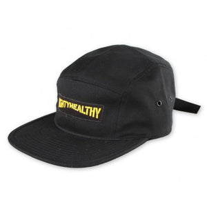 Mighty Healthy Stencil black 5 panel cap
