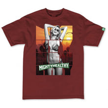 Load image into Gallery viewer, Mighty Healthy Dreamer burgundy T shirt