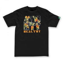Load image into Gallery viewer, Mighty Healthy Fantasy Island black T shirt