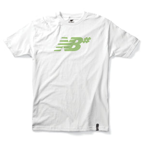 New Balance Numeric Icon white/fair green T shirt