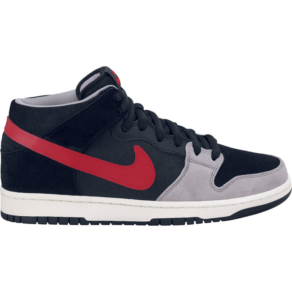 Nike SB Dunk Mid pro black/varsity red-mean green