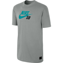 Load image into Gallery viewer, Nike SB Icon dark grey heather/venom green T shirt