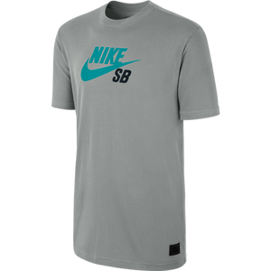 Nike SB Icon dark grey heather/venom green T shirt