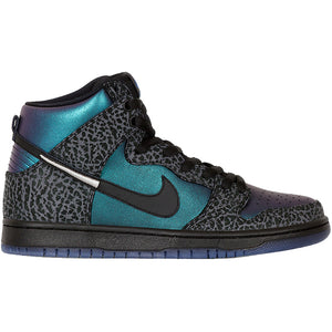 Nike SB x Black Sheep Dunk High Pro QS black/black-dark grey-metallic silver