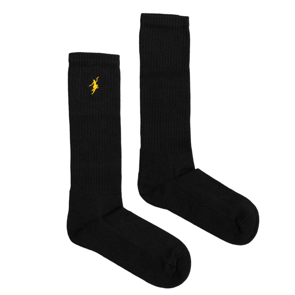 Polar No Comply black/yellow sports socks UK 8-12