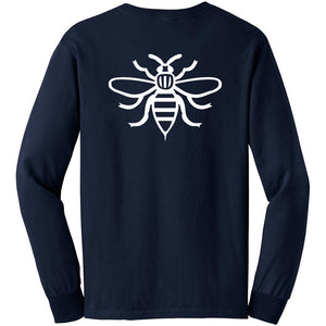 NOTE Bee Back navy/white long sleeve T shirt