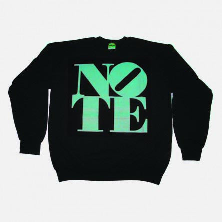 NOTE Big Logo black/tiffany crew