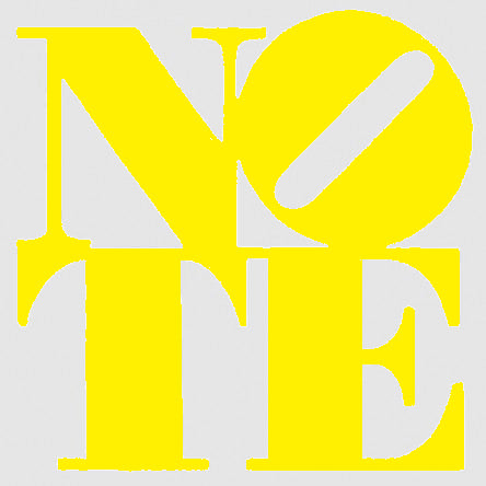 NOTE sticker yellow/clear
