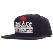 Load image into Gallery viewer, Palace All Terrain navy snapback cap