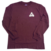 Load image into Gallery viewer, Palace Tri-Ferg cordovan long sleeve T shirt