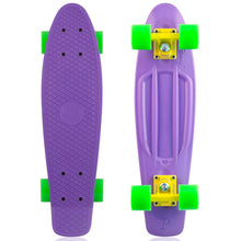 "Load image into Gallery viewer, Penny skateboard 22"" purple/yellow/green complete cruiser"
