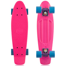 "Load image into Gallery viewer, Penny skateboard 22"" pink/purple/blue complete cruiser"