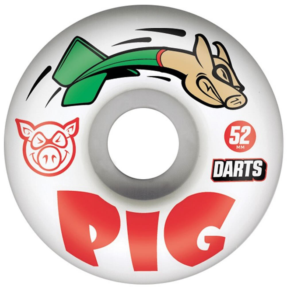 Pig Darts 52mm white wheels