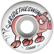 Load image into Gallery viewer, Pig Swine 53mm white wheels