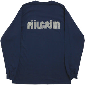 Piilgrim Structure long sleeve T shirt navy
