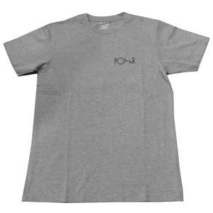 Polar Fill Logo Mesh heather grey T shirt