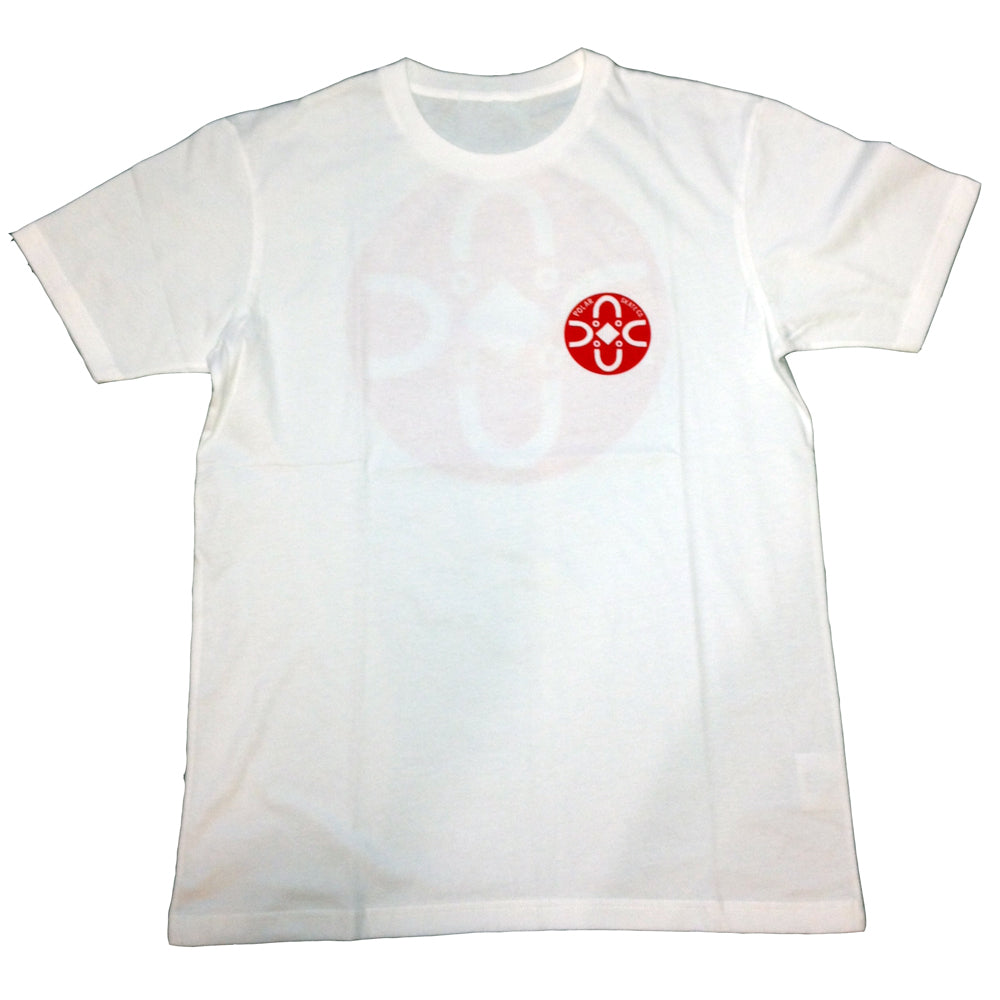 Polar Fill Logo Happy Sad white T shirt