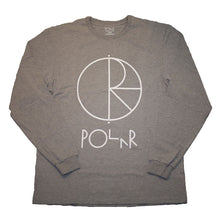 Load image into Gallery viewer, Polar Stroke Logo Front Print heather grey long sleeve T shirt