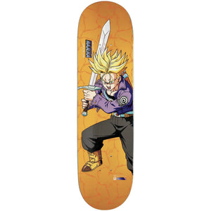 Primitive x Dragon Ball Z Diego Najera Super Saiyan Trunks deck 8.125""