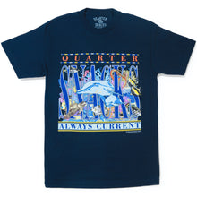 Load image into Gallery viewer, Quartersnacks Always Current Tee navy