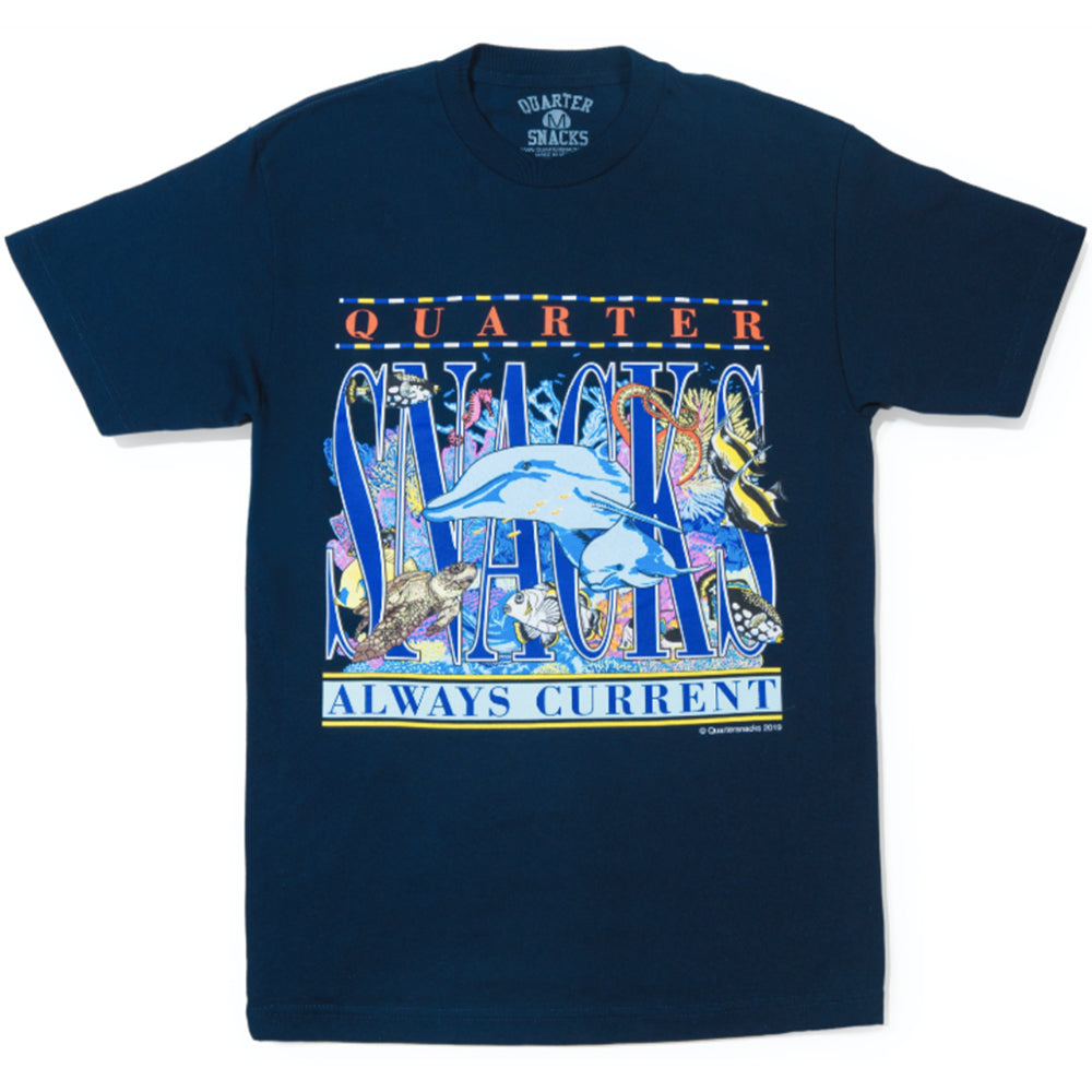 Quartersnacks Always Current Tee navy