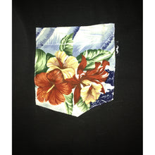 Load image into Gallery viewer, The Quiet Life Aloha black/colourful pocket T shirt