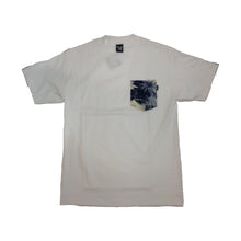 Load image into Gallery viewer, The Quiet Life Aloha white/blue pocket T shirt
