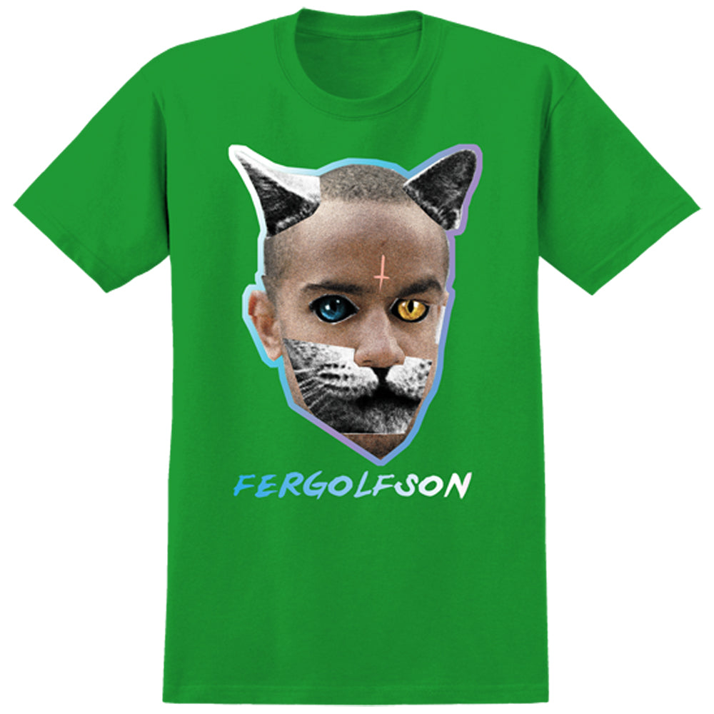 Real x Odd Future Fergolfson kelly green T shirt
