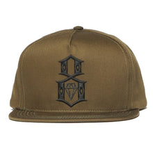 Load image into Gallery viewer, Rebel8 Logo Army snapback cap