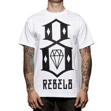 Load image into Gallery viewer, Rebel8 R8 Logo white T shirt