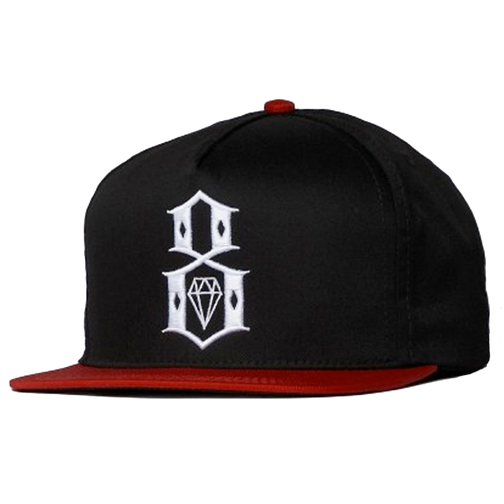 Rebel8 Burn Bridges black/red snapback cap