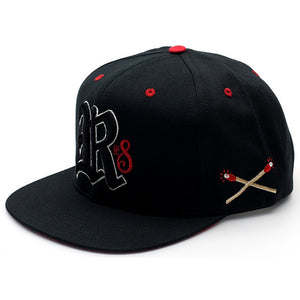 Rebel8 Burners black snapback cap