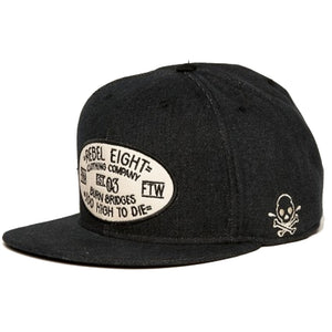 Rebel8 Life Lessons denim snapback cap