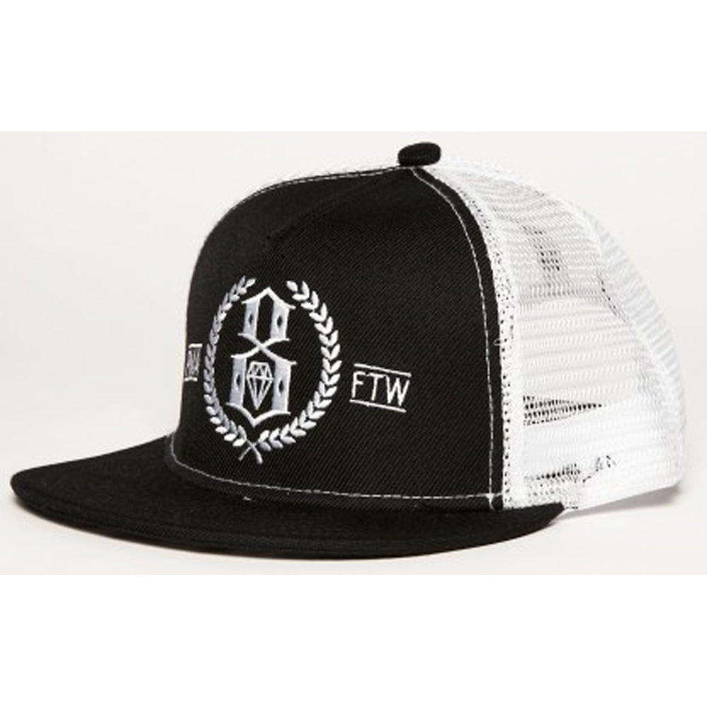 Rebel8 PMA-FTW black mesh cap