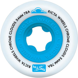 Ricta Chrome Clouds 78a blue wheels 54mm