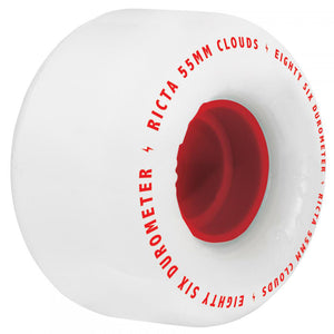 Ricta Clouds 86A white/red wheels 53mm