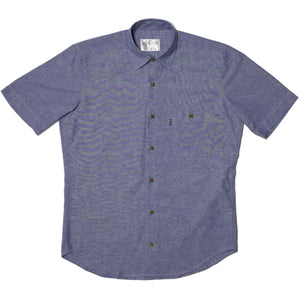 RIPNDIP Chambray navy button down s/s shirt