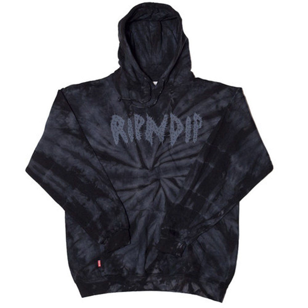 RIPNDIP Acid Wash Black Hood