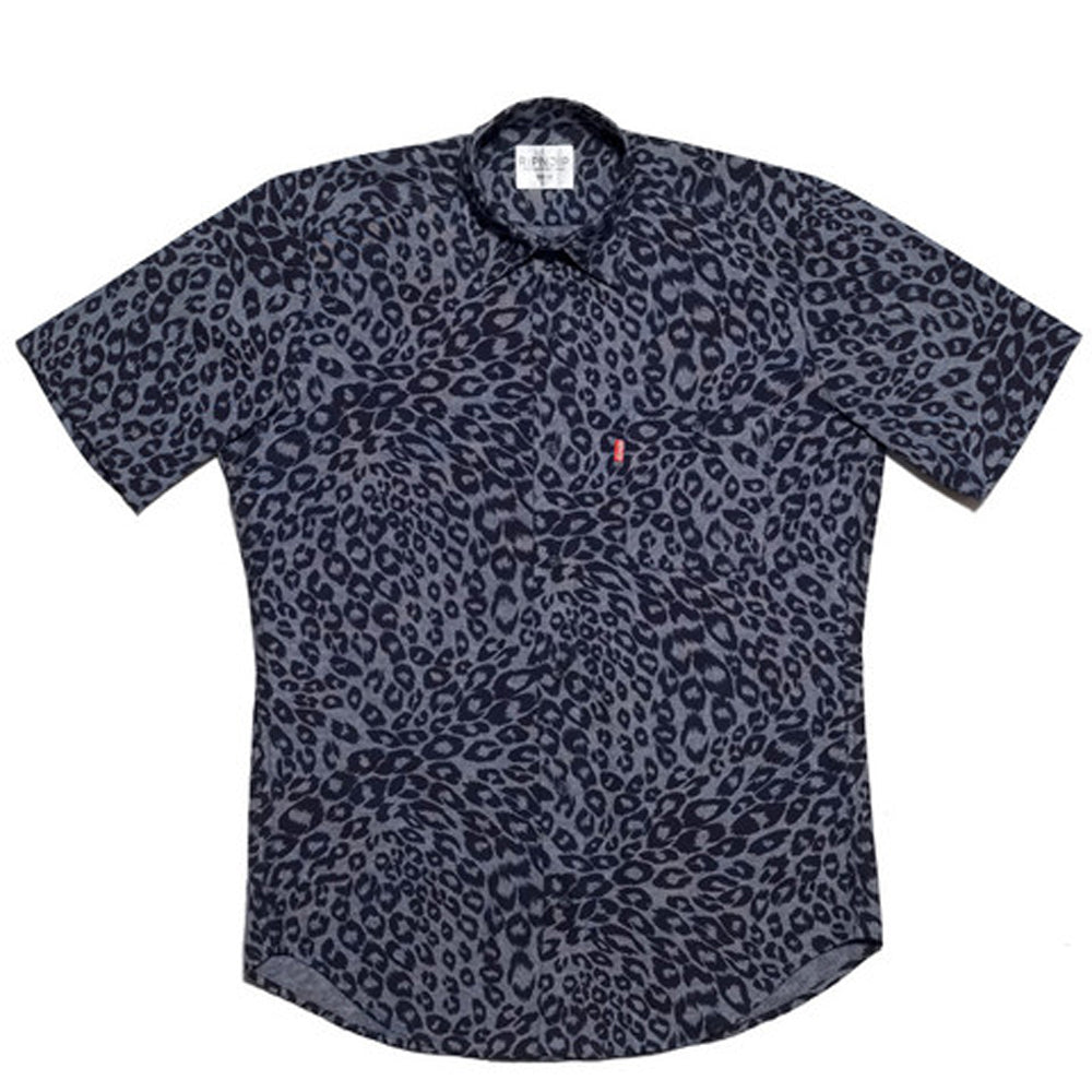 RIPNDIP Cheetah Blue Button Down Shirt