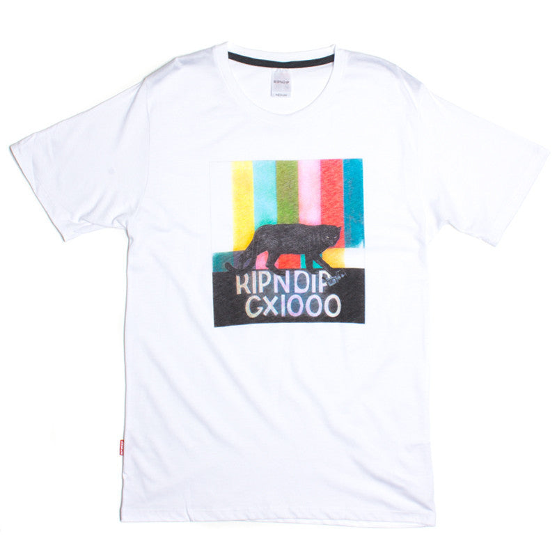RIPNDIP GX1000 Panther Bars white T shirt