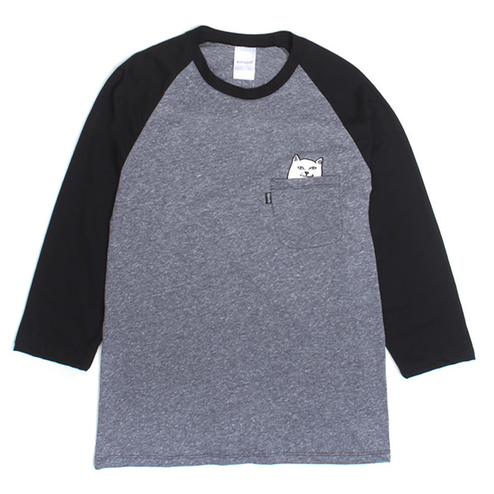 Ripndip Lord Nermal black/grey raglan T shirt