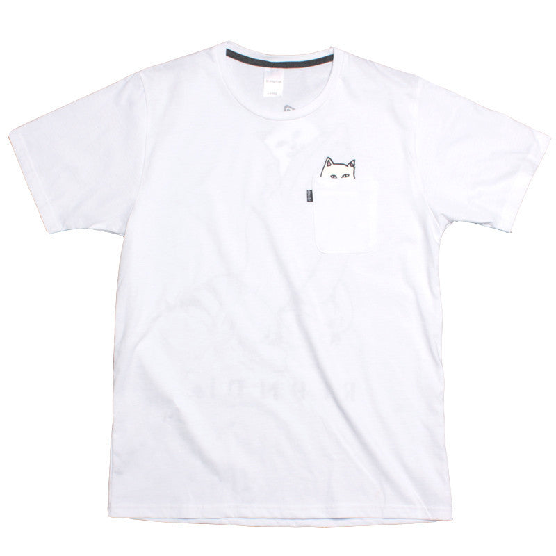 Ripndip Lord Nermal with back print white T shirt