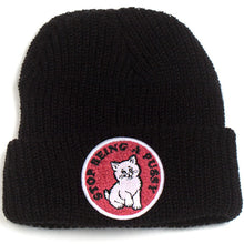 Load image into Gallery viewer, Ripndip Stop Being A Pussy ribbed black beanie