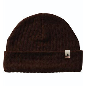 Altamont Rolled brown beanie
