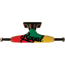 Load image into Gallery viewer, Royal 4 Tri Script rasta 5.0 trucks